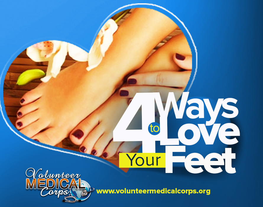 FOUR WAYS TO LOVE YOUR FEET