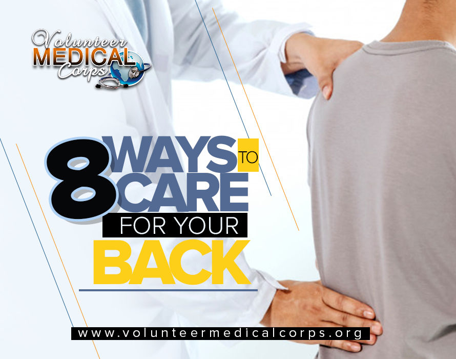 8 WAYS TO CARE FOR YOUR BACK.