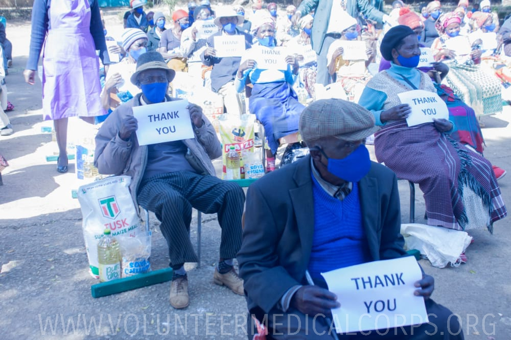 Relief supplies for the elderly in Kuwadzana, Zimbabwe