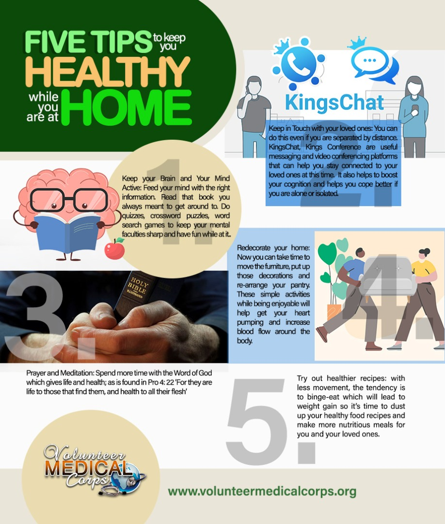 5 TIPS TO KEEP YOU HEALTHY WHILE YOU ARE AT HOME