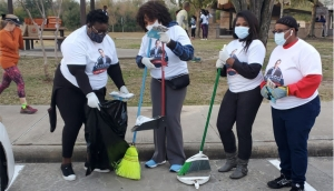VMC Houston Texas Cleans up their community