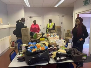 VMC UK set up a food bank in her city